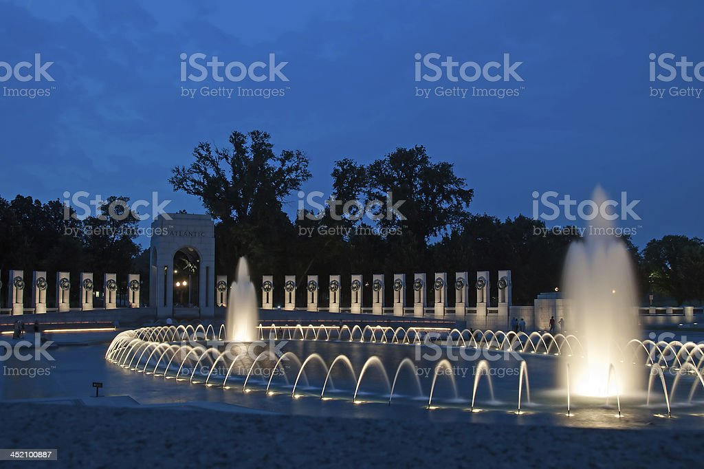 World War 2 Memorial stock photo