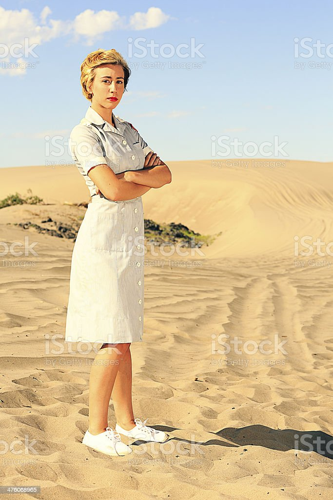 World War 2 Nurse royalty-free stock photo