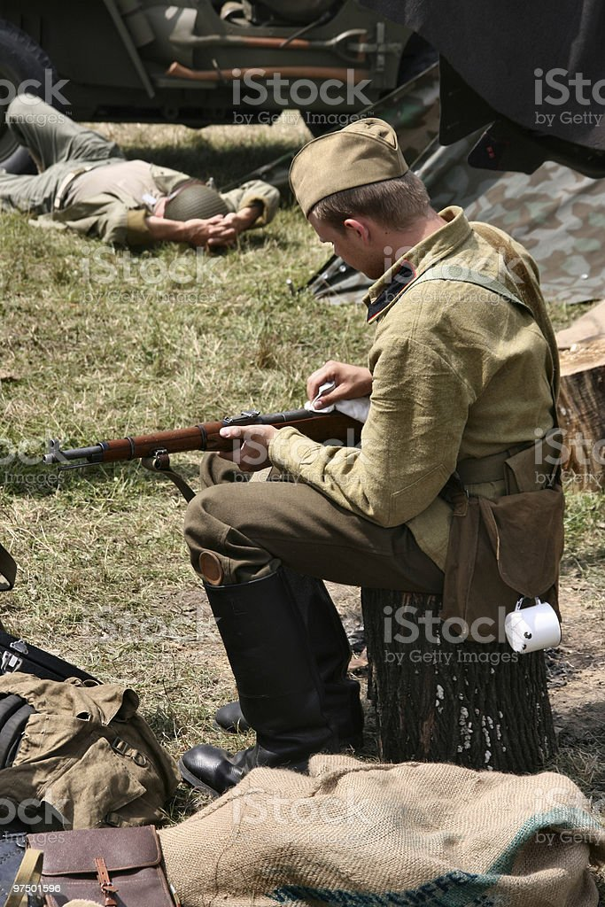 World War 2 soldiers royalty-free stock photo