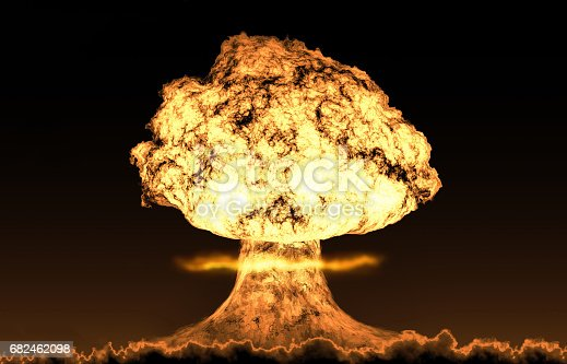 istock World war 3 nuclear background set 682462098