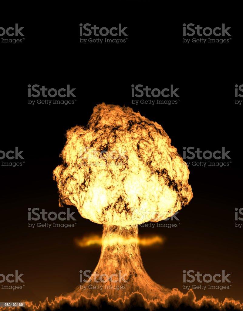 World war 3 nuclear background set bildbanksfoto