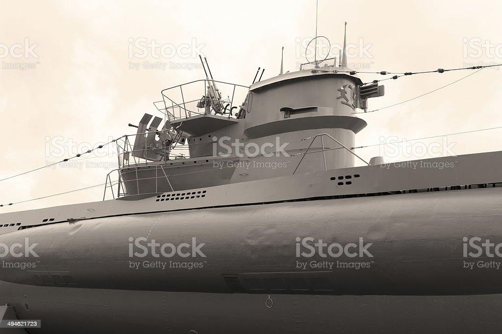 II World War German Submarine stock photo