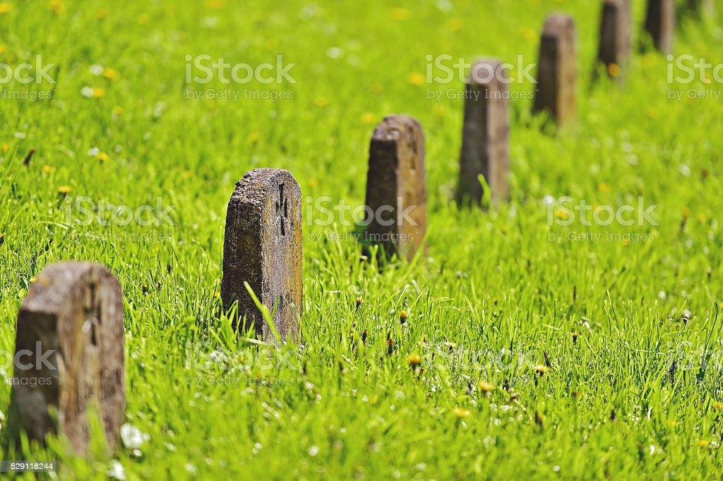 World War heroes cemetery stock photo