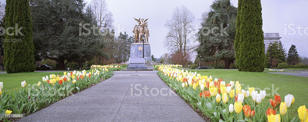 World War I Memorial at Washington State Capitol stock photo
