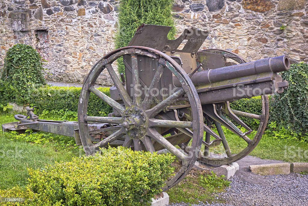 World War I old infantry cannon stock photo