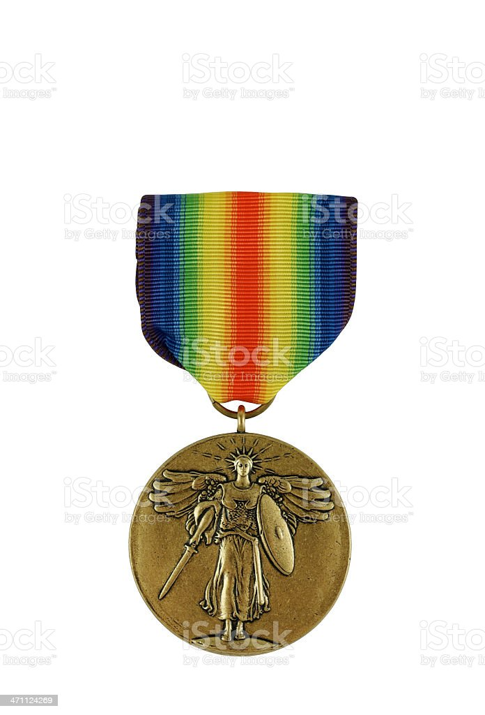 World War I Victory Medal U.S. royalty-free stock photo