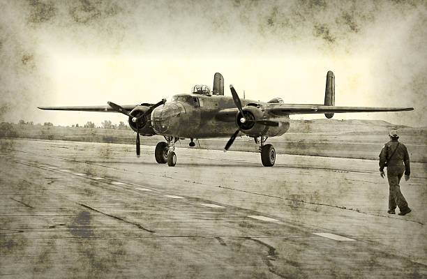 World War II airplane and pilot  airfield stock pictures, royalty-free photos & images