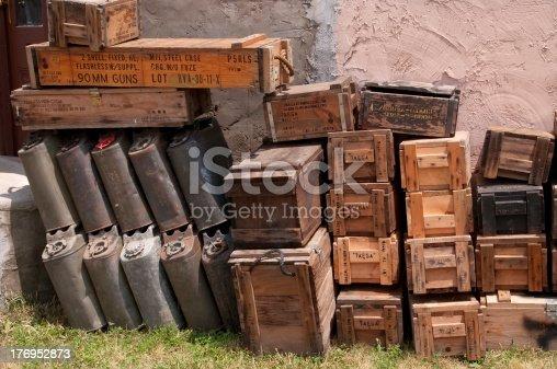istock World War II Ammunition Crates 176952873