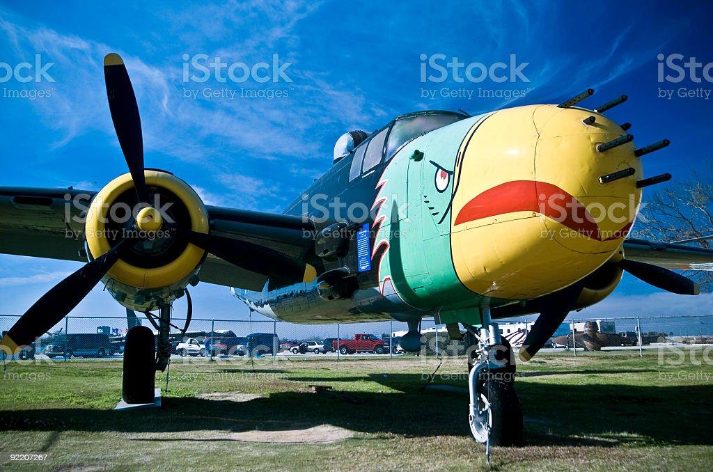 World War II B-25 Bomber stock photo