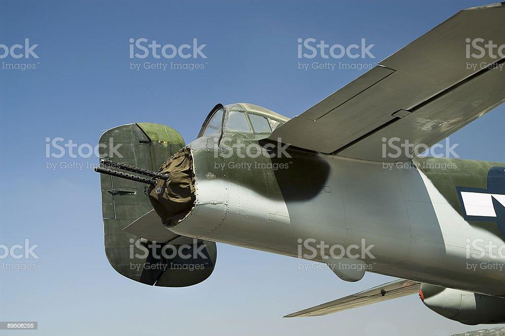 World War II Bomber Tail Gunner Section royalty-free stock photo