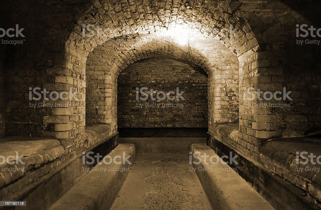 World War II British underground bunker stock photo