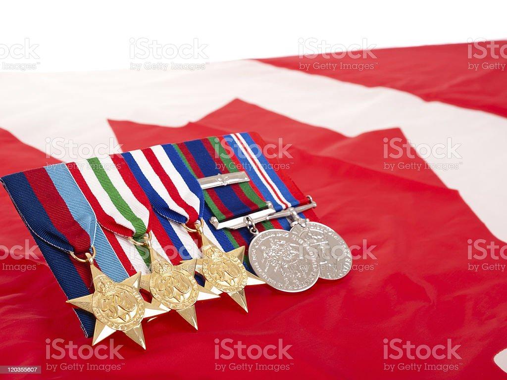World War II Canadian Medaillen – Foto