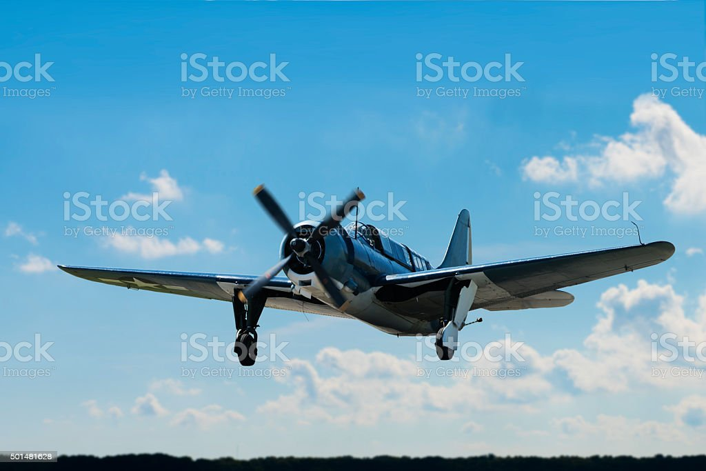 World War II Curtiss Landing stock photo