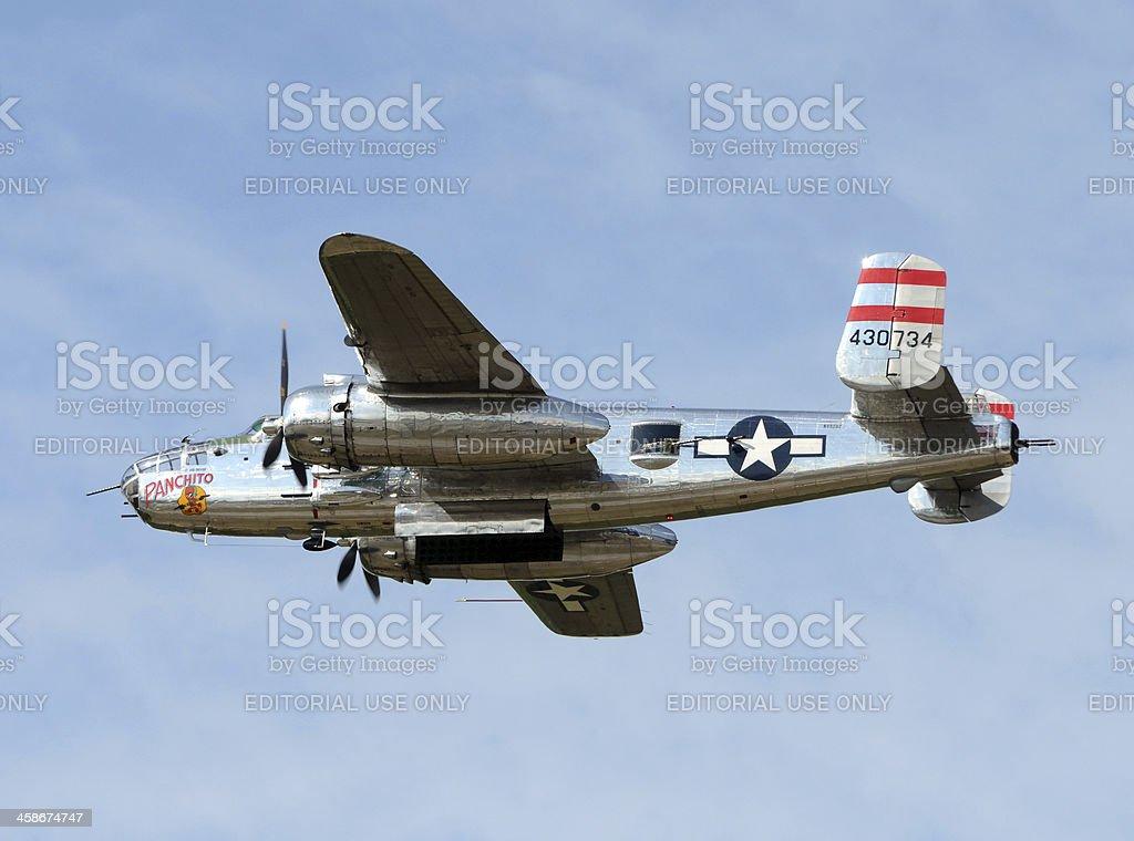 World War II era B-25 bomber stock photo