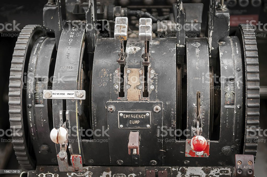 World War II Era Military Transport Throttle royalty-free stock photo
