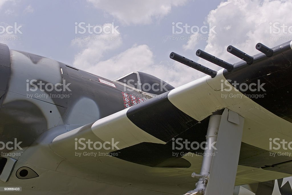 P-47 World War II Fighter royalty-free stock photo