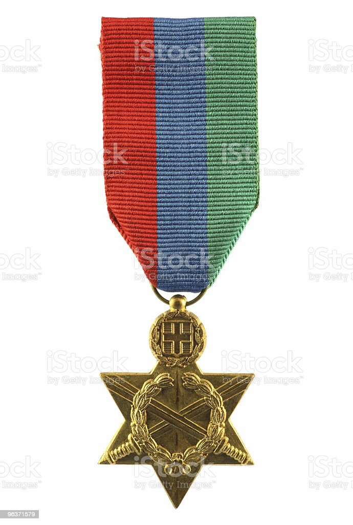 World War II Greek Medal stock photo