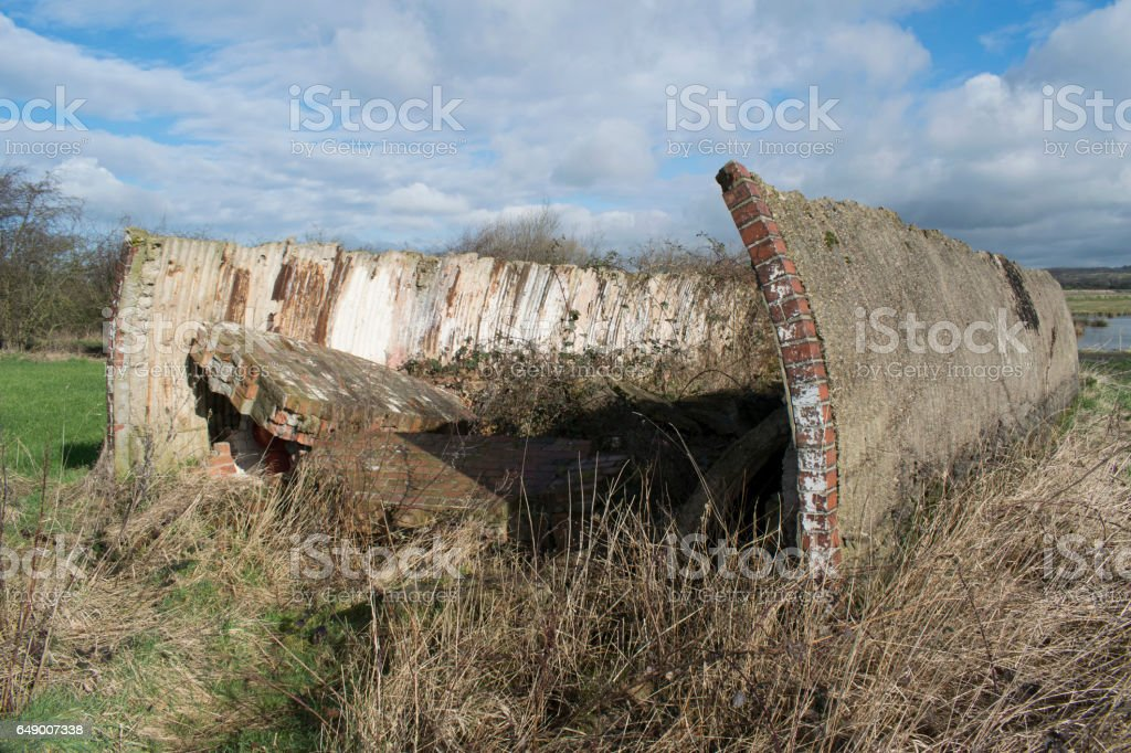 World War II Heavy Anti-Aircraft Battery Gunsite stock photo