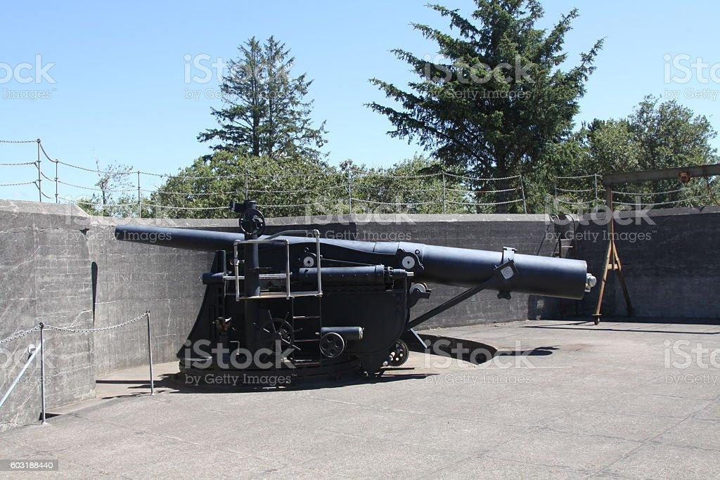 World War II High Powered Gun stock photo