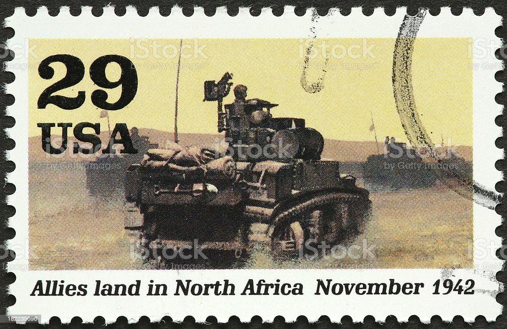 world war II in Africa royalty-free stock photo