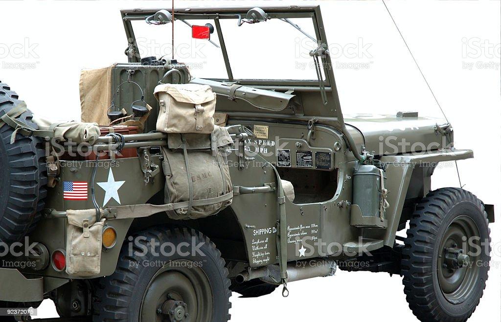 World War II Jeep (restored) royalty-free stock photo