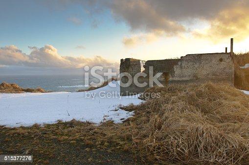 World War II Lookout Shelter on Aleutian Islands in Alaska