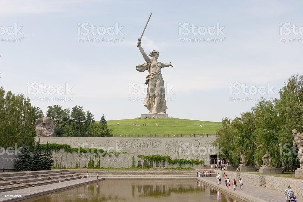 World War II Memorial in Volgograd Russia royalty-free stock photo