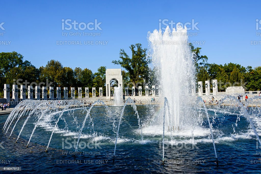 World War II Memorial in Washington DC stock photo