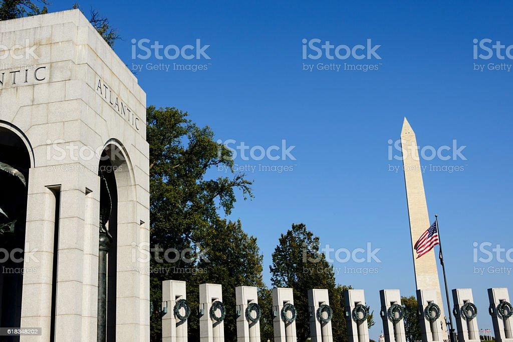 World War II Memorial in Washington DC stock photo