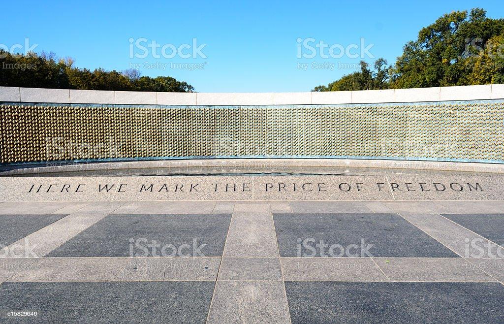 World War II Memorial stock photo