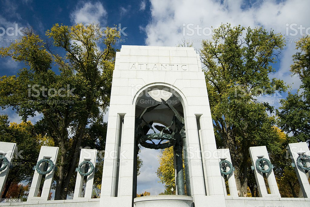 World war II Memorial, Washington stock photo