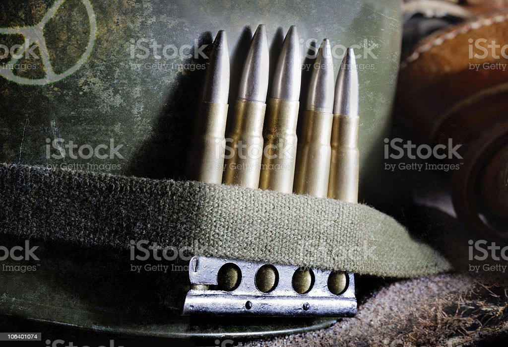 World War II style combat helmet royalty-free stock photo