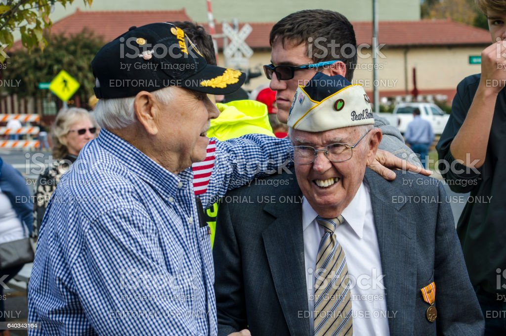 World War II Veteran and Pearl Harbor Survivor stock photo