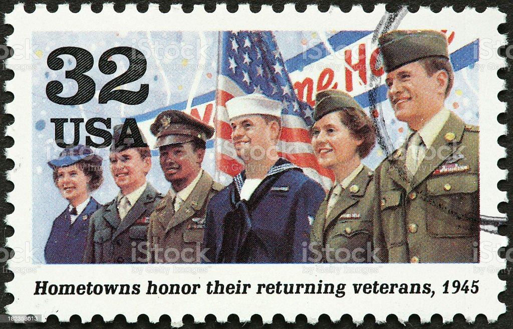 world war II veterans royalty-free stock photo