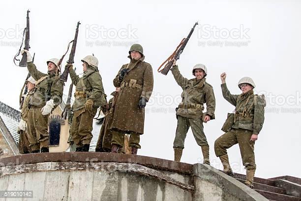 World War II: Victory Cheer After Storming Bunker