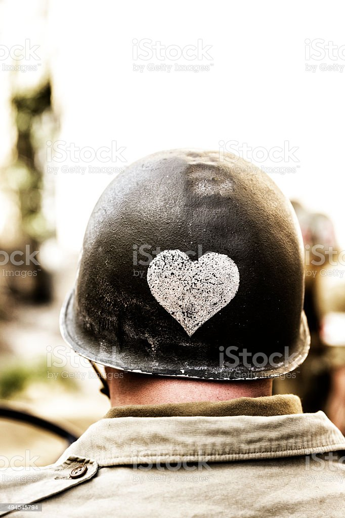 World War ll Soilder stock photo