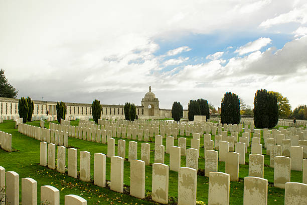 world war one cemetery tyne cot belgium flanders ypres stock photo