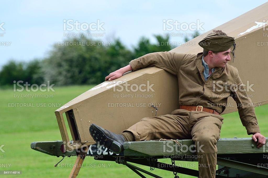 World war one ground crewman stock photo