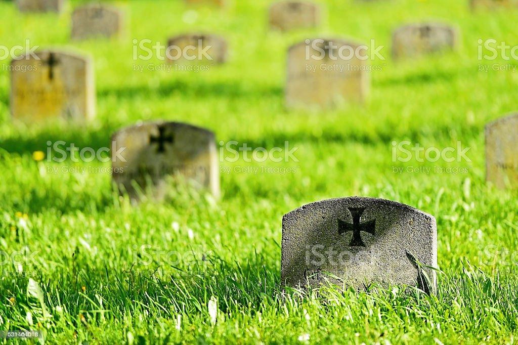 World War One heroes cemetery stock photo