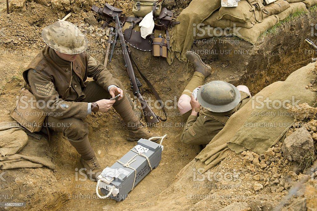 Guerre mondiale :  les soldats dans un Trench-coat. - Photo