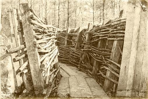 world war one trench belgium flanders