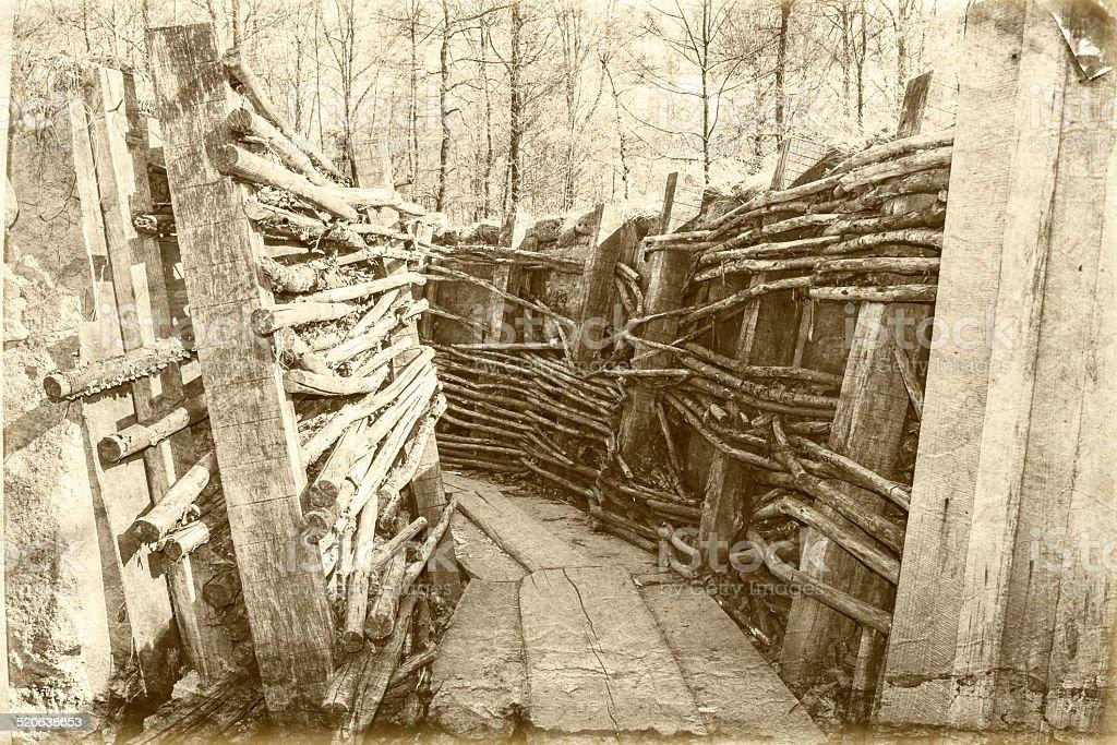 Guerre mondiale un trench Belgique Flandres - Photo