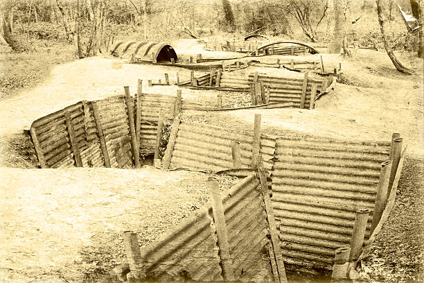 world war one trench belgium flanders stock photo