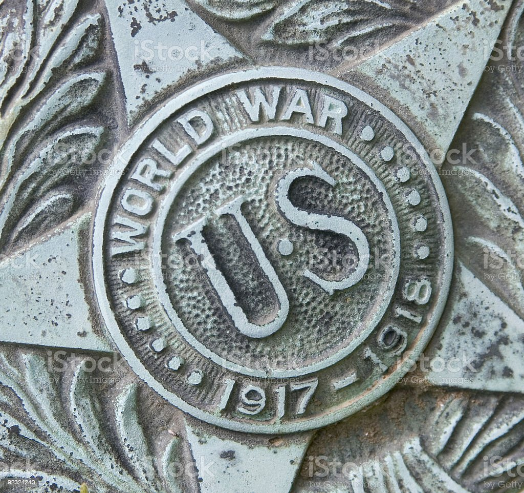 World War Plaque royalty-free stock photo
