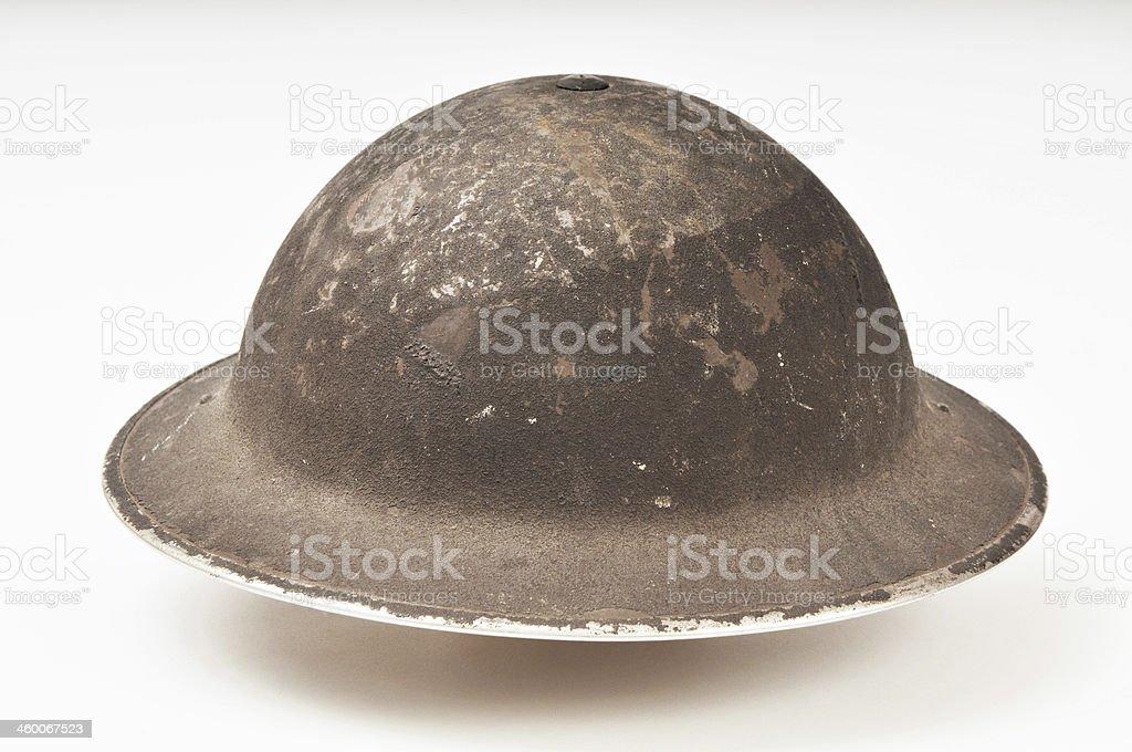World War Two British Military 'Brodie' Helmet stock photo