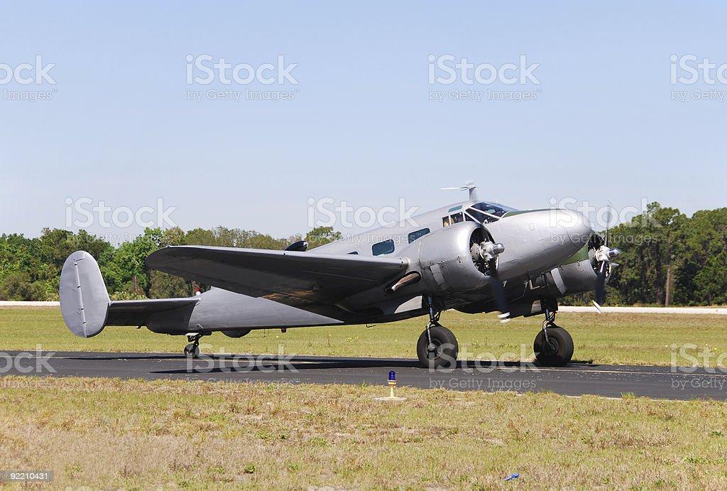 World War Two era military transport plane royalty-free stock photo