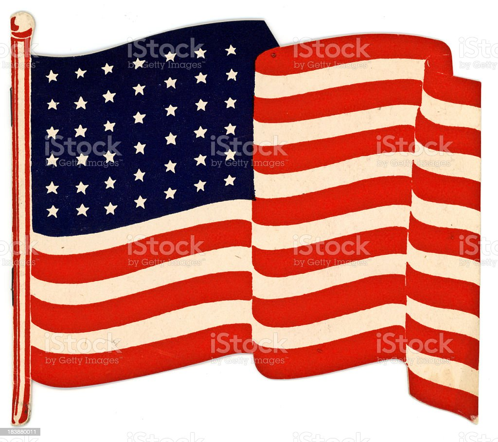 world war two era united states waving flag card stock photo more