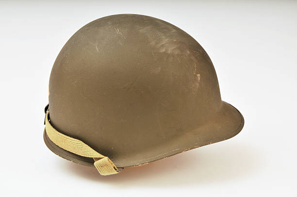 World War Two US Army M1 Helmet stock photo