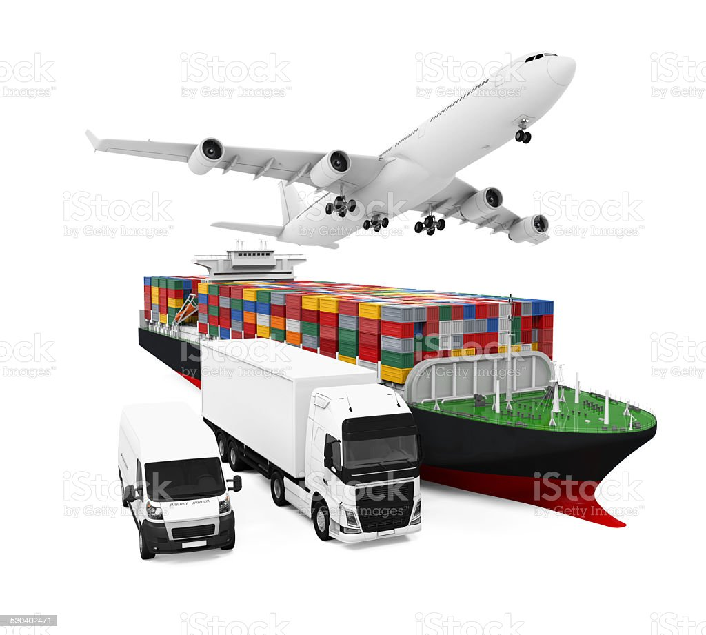 World Wide Cargo Transport Illustration stock photo