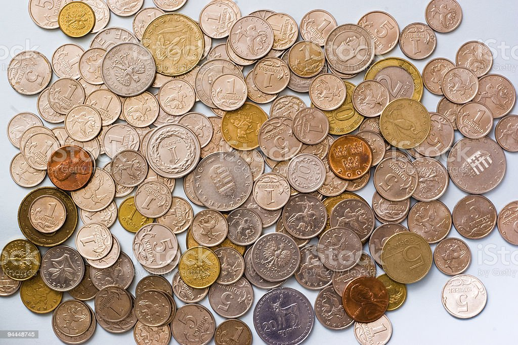 world wide coins royalty-free stock photo